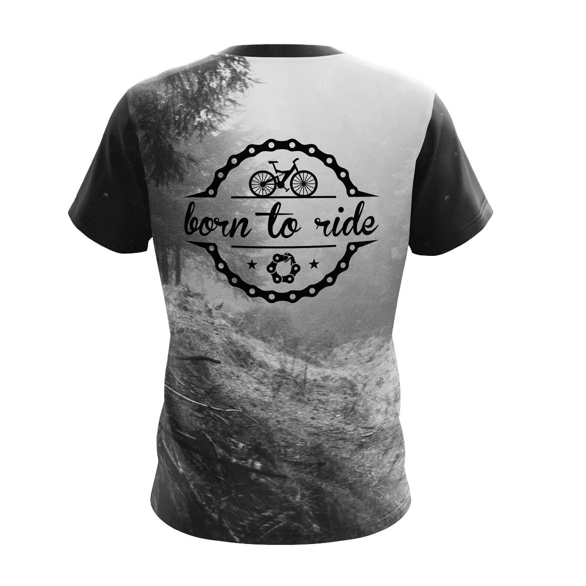 Koszulka na rower Born to Ride Oddychający materiał